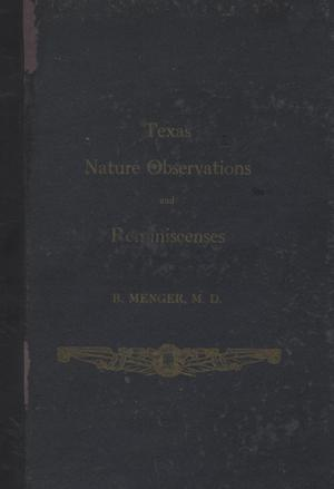 Primary view of object titled 'Texas Nature Observations and Reminiscenses'.