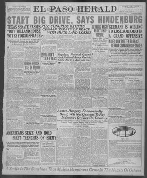 Primary view of El Paso Herald (El Paso, Tex.), Ed. 1, Friday, March 15, 1918