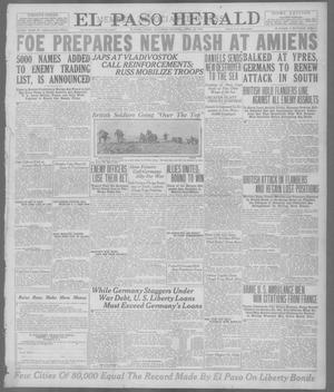 Primary view of object titled 'El Paso Herald (El Paso, Tex.), Ed. 1, Saturday, April 20, 1918'.