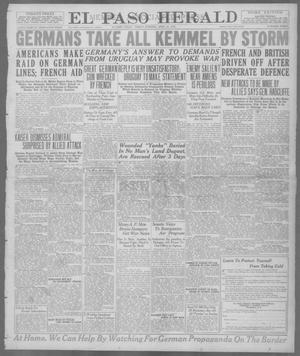 Primary view of object titled 'El Paso Herald (El Paso, Tex.), Ed. 1, Friday, April 26, 1918'.