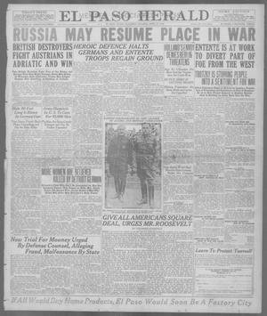 Primary view of object titled 'El Paso Herald (El Paso, Tex.), Ed. 1, Saturday, April 27, 1918'.