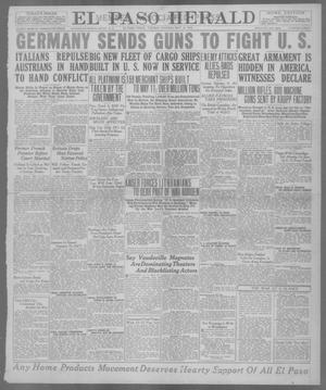 Primary view of object titled 'El Paso Herald (El Paso, Tex.), Ed. 1, Tuesday, May 14, 1918'.