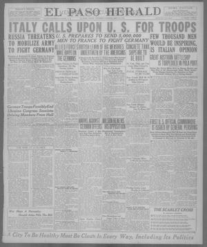 Primary view of object titled 'El Paso Herald (El Paso, Tex.), Ed. 1, Thursday, May 16, 1918'.