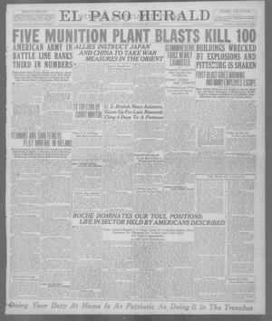 Primary view of object titled 'El Paso Herald (El Paso, Tex.), Ed. 1, Saturday, May 18, 1918'.