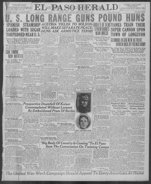 Primary view of object titled 'El Paso Herald (El Paso, Tex.), Ed. 1, Monday, October 28, 1918'.