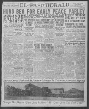 Primary view of object titled 'El Paso Herald (El Paso, Tex.), Ed. 1, Tuesday, November 12, 1918'.