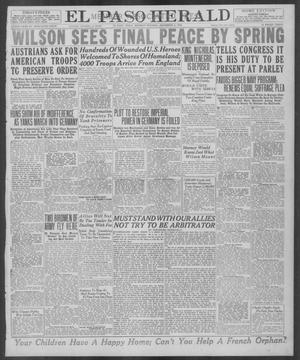 Primary view of object titled 'El Paso Herald (El Paso, Tex.), Ed. 1, Monday, December 2, 1918'.