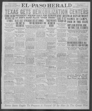Primary view of object titled 'El Paso Herald (El Paso, Tex.), Ed. 1, Wednesday, December 4, 1918'.