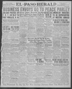 Primary view of object titled 'El Paso Herald (El Paso, Tex.), Ed. 1, Friday, December 6, 1918'.