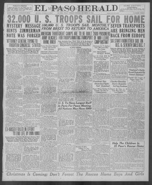 Primary view of object titled 'El Paso Herald (El Paso, Tex.), Ed. 1, Tuesday, December 10, 1918'.