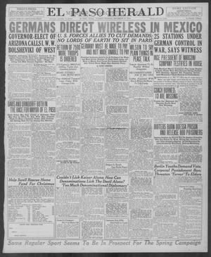 Primary view of object titled 'El Paso Herald (El Paso, Tex.), Ed. 1, Tuesday, December 17, 1918'.