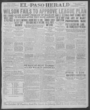 Primary view of object titled 'El Paso Herald (El Paso, Tex.), Ed. 1, Wednesday, December 18, 1918'.