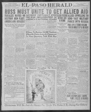 Primary view of object titled 'El Paso Herald (El Paso, Tex.), Ed. 1, Tuesday, December 24, 1918'.