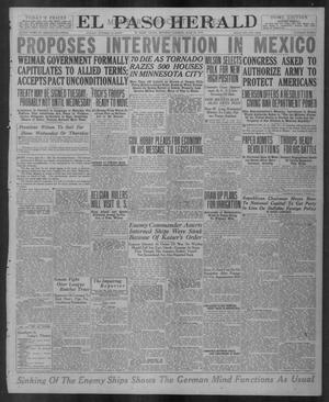 Primary view of object titled 'El Paso Herald (El Paso, Tex.), Ed. 1, Monday, June 23, 1919'.