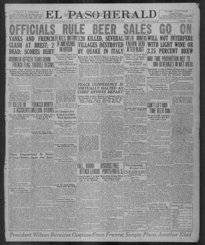 Primary view of object titled 'El Paso Herald (El Paso, Tex.), Ed. 1, Monday, June 30, 1919'.
