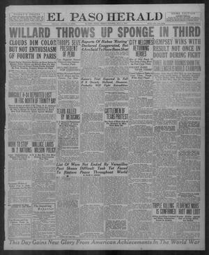 Primary view of object titled 'El Paso Herald (El Paso, Tex.), Ed. 1, Friday, July 4, 1919'.