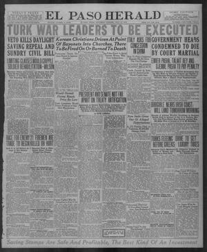 Primary view of object titled 'El Paso Herald (El Paso, Tex.), Ed. 1, Saturday, July 12, 1919'.