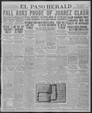Primary view of object titled 'El Paso Herald (El Paso, Tex.), Ed. 1, Monday, July 21, 1919'.