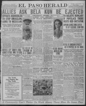 Primary view of object titled 'El Paso Herald (El Paso, Tex.), Ed. 1, Saturday, July 26, 1919'.