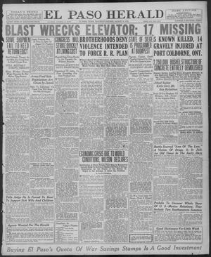 Primary view of object titled 'El Paso Herald (El Paso, Tex.), Ed. 1, Saturday, August 9, 1919'.