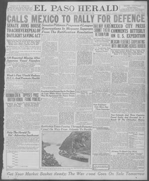 Primary view of object titled 'El Paso Herald (El Paso, Tex.), Ed. 1, Wednesday, August 20, 1919'.