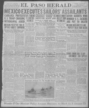 Primary view of object titled 'El Paso Herald (El Paso, Tex.), Ed. 1, Thursday, August 21, 1919'.