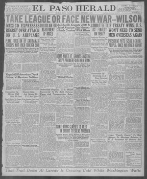 Primary view of object titled 'El Paso Herald (El Paso, Tex.), Ed. 1, Thursday, September 4, 1919'.