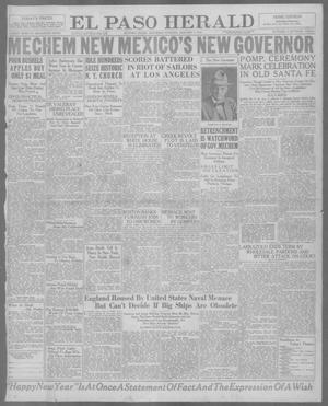 Primary view of object titled 'El Paso Herald (El Paso, Tex.), Ed. 1, Saturday, January 1, 1921'.