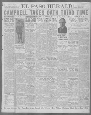 Primary view of object titled 'El Paso Herald (El Paso, Tex.), Ed. 1, Monday, January 3, 1921'.