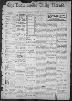 Primary view of object titled 'The Brownsville Daily Herald. (Brownsville, Tex.), Vol. 8, No. 193, Ed. 1, Thursday, February 15, 1900'.