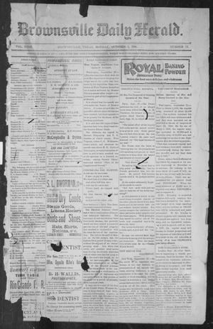 Primary view of object titled 'Brownsville Daily Herald (Brownsville, Tex.), Vol. NINE, No. 77, Ed. 1, Monday, October 1, 1900'.