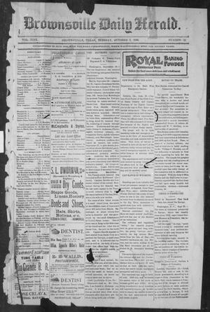 Primary view of object titled 'Brownsville Daily Herald (Brownsville, Tex.), Vol. NINE, No. 78, Ed. 1, Tuesday, October 2, 1900'.