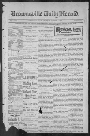 Primary view of object titled 'Brownsville Daily Herald (Brownsville, Tex.), Vol. NINE, No. 80, Ed. 1, Thursday, October 4, 1900'.
