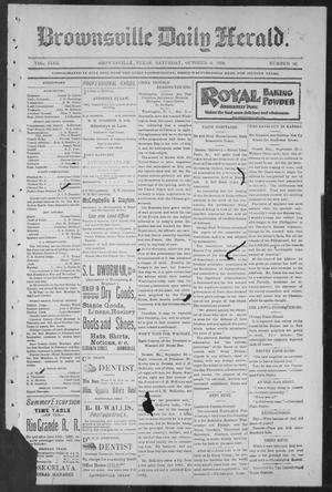 Primary view of object titled 'Brownsville Daily Herald (Brownsville, Tex.), Vol. NINE, No. 82, Ed. 1, Saturday, October 6, 1900'.