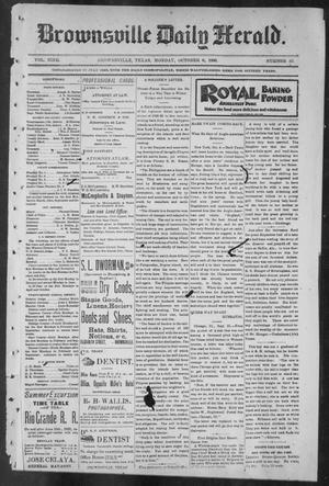 Primary view of object titled 'Brownsville Daily Herald (Brownsville, Tex.), Vol. NINE, No. 83, Ed. 1, Monday, October 8, 1900'.