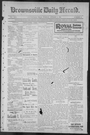 Primary view of object titled 'Brownsville Daily Herald (Brownsville, Tex.), Vol. NINE, No. 84, Ed. 1, Tuesday, October 9, 1900'.