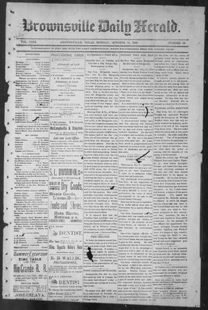 Primary view of object titled 'Brownsville Daily Herald (Brownsville, Tex.), Vol. NINE, No. 89, Ed. 1, Monday, October 15, 1900'.
