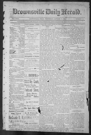 Primary view of object titled 'Brownsville Daily Herald (Brownsville, Tex.), Vol. NINE, No. 91, Ed. 1, Wednesday, October 17, 1900'.