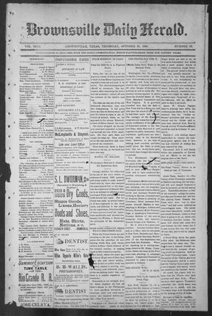 Primary view of object titled 'Brownsville Daily Herald (Brownsville, Tex.), Vol. NINE, No. 92, Ed. 1, Thursday, October 18, 1900'.
