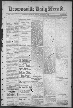 Primary view of object titled 'Brownsville Daily Herald (Brownsville, Tex.), Vol. NINE, No. 99, Ed. 1, Friday, October 26, 1900'.