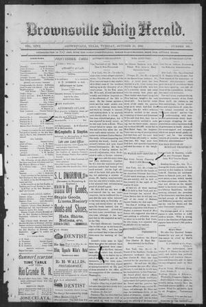 Primary view of object titled 'Brownsville Daily Herald (Brownsville, Tex.), Vol. NINE, No. 102, Ed. 1, Tuesday, October 30, 1900'.