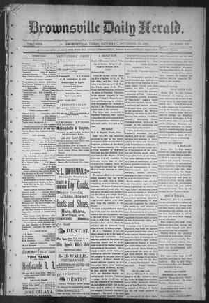 Primary view of object titled 'Brownsville Daily Herald (Brownsville, Tex.), Vol. NINE, No. 112, Ed. 1, Saturday, November 10, 1900'.