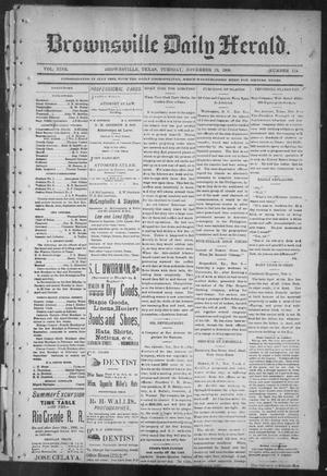Primary view of object titled 'Brownsville Daily Herald (Brownsville, Tex.), Vol. NINE, No. 114, Ed. 1, Tuesday, November 13, 1900'.