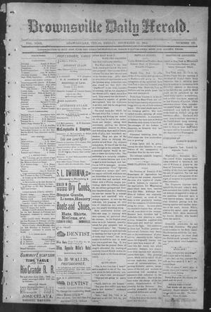 Primary view of object titled 'Brownsville Daily Herald (Brownsville, Tex.), Vol. NINE, No. 123, Ed. 1, Friday, November 23, 1900'.