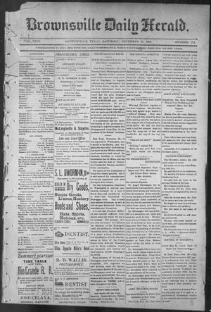 Primary view of object titled 'Brownsville Daily Herald (Brownsville, Tex.), Vol. NINE, No. 124, Ed. 1, Saturday, November 24, 1900'.