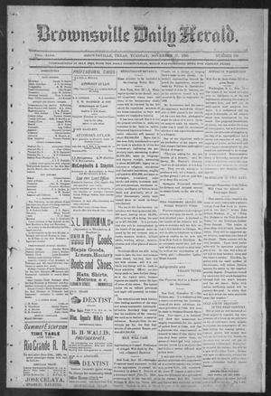 Primary view of object titled 'Brownsville Daily Herald (Brownsville, Tex.), Vol. NINE, No. 126, Ed. 1, Tuesday, November 27, 1900'.