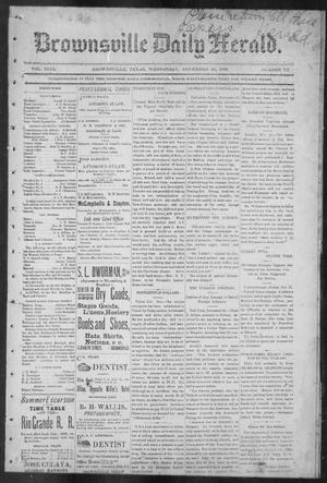 Primary view of object titled 'Brownsville Daily Herald (Brownsville, Tex.), Vol. NINE, No. 127, Ed. 1, Wednesday, November 28, 1900'.