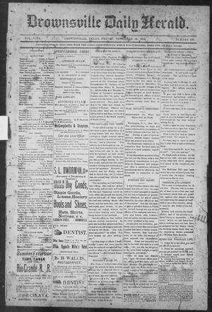 Primary view of object titled 'Brownsville Daily Herald (Brownsville, Tex.), Vol. NINE, No. 129, Ed. 1, Friday, November 30, 1900'.