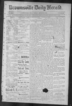 Primary view of object titled 'Brownsville Daily Herald (Brownsville, Tex.), Vol. NINE, No. 131, Ed. 1, Monday, December 3, 1900'.