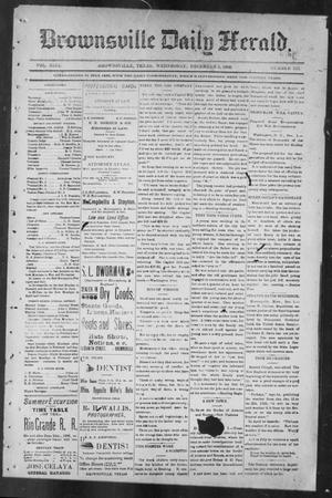 Primary view of object titled 'Brownsville Daily Herald (Brownsville, Tex.), Vol. NINE, No. 133, Ed. 1, Wednesday, December 5, 1900'.